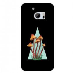 """Чехол для HTC с принтом """"Грибы в треугольнике"""""""