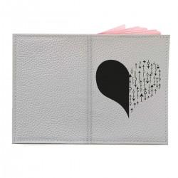 """Обложка на паспорт с принтом """"Сердце со стрелками-4"""""""
