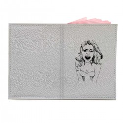 "Обложка на паспорт с принтом ""Девушка-скандал"""