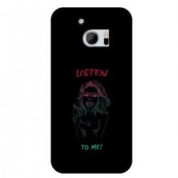 """Чехол для HTC с принтом """"Listen to me!"""""""