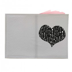 """Обложка на паспорт с принтом """"Сердце со стрелками-2"""""""