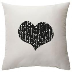"""Подушка с принтом """"Сердце со стрелками-2"""""""