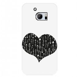 """Чехол для HTC с принтом """"Сердце со стрелками-2"""""""