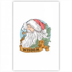 "Холст с принтом ""Мудрый Санта"" (20x30cм)"