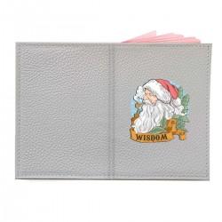 """Обложка на паспорт с принтом """"Мудрый Санта"""""""