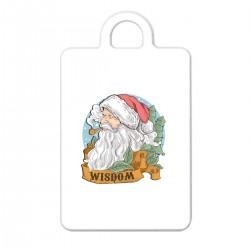 """Брелок с принтом """"Мудрый Санта"""""""