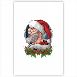 "Холст с принтом ""Mr. Santa"" (20x30cм)"