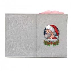"""Обложка на паспорт с принтом """"Mr. Santa"""""""