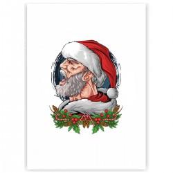"Холст с принтом ""Mr. Santa"" (30x40 cм)"