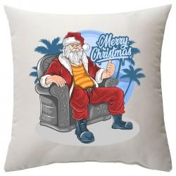 """Подушка с принтом """"Крутой Санта"""""""