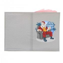 "Обложка на паспорт с принтом ""Крутой Санта"""