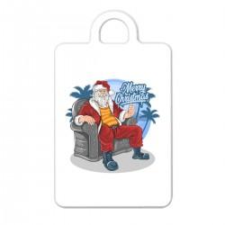 """Брелок с принтом """"Крутой Санта"""""""