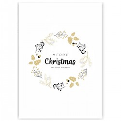 "Холст с принтом ""Mery Christmas"" (30x40 cм)"