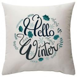 """Подушка с принтом """"Hello, Winter"""""""