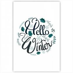"Холст с принтом ""Hello, Winter"" (20x30cм)"