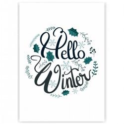 "Холст с принтом ""Hello, Winter"" (30x40 cм)"