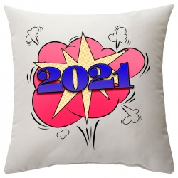 "Подушка с принтом ""2021 год"""