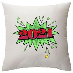 """Подушка с принтом """"Салют, 2021!"""""""