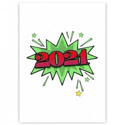 "Холст с принтом ""Салют, 2021!"" (30x40 cм)"