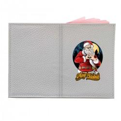 "Обложка на паспорт с принтом ""Christmas heart"""