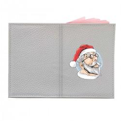 "Обложка на паспорт с принтом ""I am Santa"""