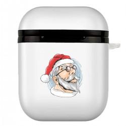 """Чехол для AirPods белый с принтом """"I am Santa"""""""