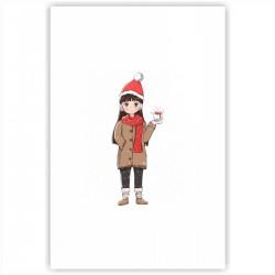 "Холст с принтом ""Hi, Christmas"" (20x30cм)"