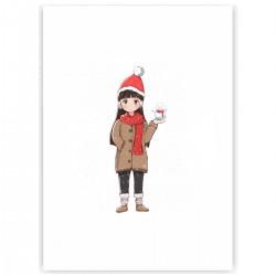 "Холст с принтом ""Hi, Christmas"" (30x40 cм)"