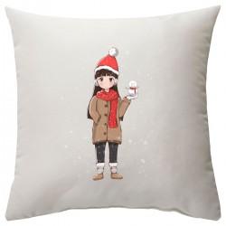 """Подушка с принтом """"Hi, Christmas"""""""