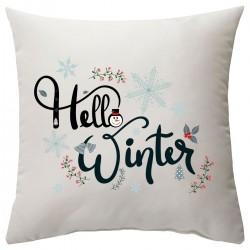 """Подушка с принтом """"Winter hello"""""""