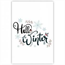 "Холст с принтом ""Winter hello"" (20x30cм)"
