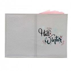 """Обложка на паспорт с принтом """"Winter hello"""""""
