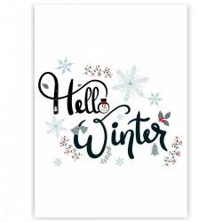 "Холст с принтом ""Winter hello"" (30x40 cм)"