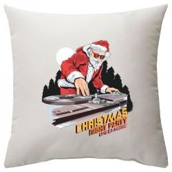 "Подушка с принтом ""DJ-Santa"""