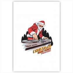 "Холст с принтом ""DJ-Santa"" (20x30cм)"