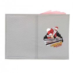 """Обложка на паспорт с принтом """"DJ-Santa"""""""