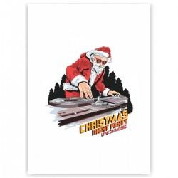 "Холст с принтом ""DJ-Santa"" (30x40 cм)"