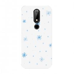 """Чехол для Nokia с принтом """"Голубые снежинки"""""""