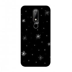 """Чехол для Nokia с принтом """"Белые снежинки"""""""