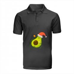 """Поло с принтом """"Авокадо поздравляет вас с Новым годом!"""""""