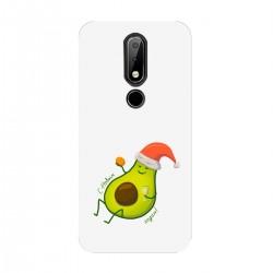 """Чехол для Nokia с принтом """"Авокадо поздравляет вас с Новым годом!"""""""