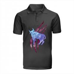 """Поло с принтом """"Фиолетовый бык"""""""