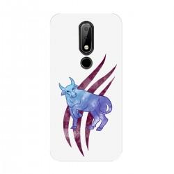 """Чехол для Nokia с принтом """"Фиолетовый бык"""""""
