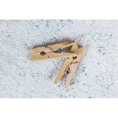 Прищепки деревянные декоративные 2,5 см 24 шт