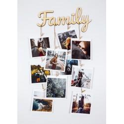 Фоторамка Надпись Family