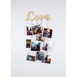 """Фоторамка - держатель для фото с прищепками """"Love"""""""