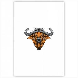 "Холст с принтом ""Год быка-1"" (20x30cм)"
