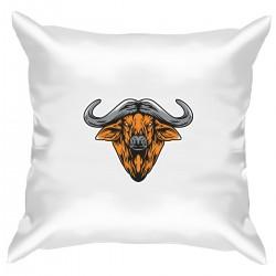 """Подушка с принтом """"Год быка-1"""""""