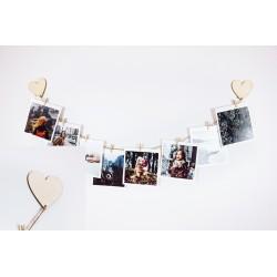 """Фоторамка - держатель для фото с прищепками """"Сердце"""""""