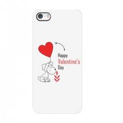 """Чехол для Apple iPhone с принтом """"Песель с шариком-сердечком"""""""